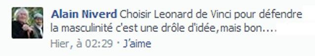 Réponse d'Alain sur Facebook